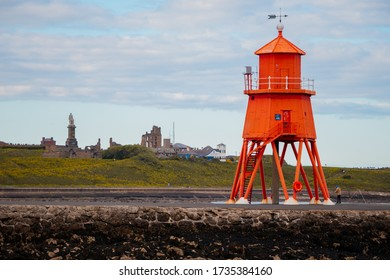 South Shields Lighthouse and Pier located North East UK