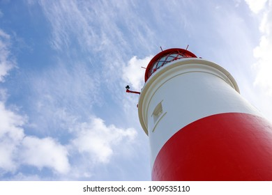 South Shields UK: 29th July 2020:  Souter Lighthouse and The Leas on a lovely summer day with copy space