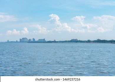 South Side Chicago Skyline from a distance and Lake Michigan