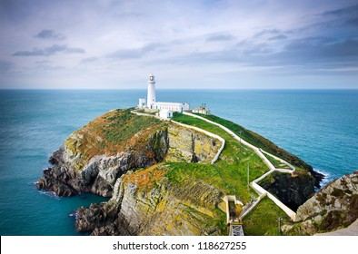 South Stack Lighthouse in Anglesey, Wales, UK, GB