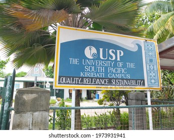 South Tarawa, Kiribati - 17th March 2016: University of the South Pacific Campus