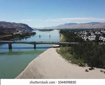 South Thompson river, Overlander bridge, Kamloops BC