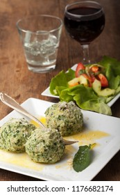 south tyrolean spinach dumplings in butter