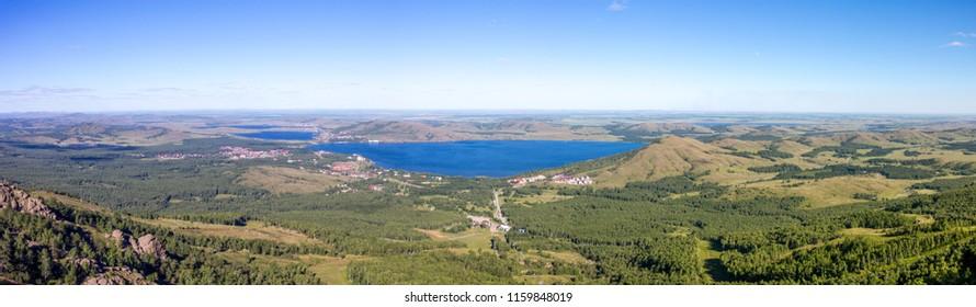 South Ural mountains in the vicinity of Bannoe lake. Metallurgist-magnitogorsk ski resort, republic Bashkortostan, Russia