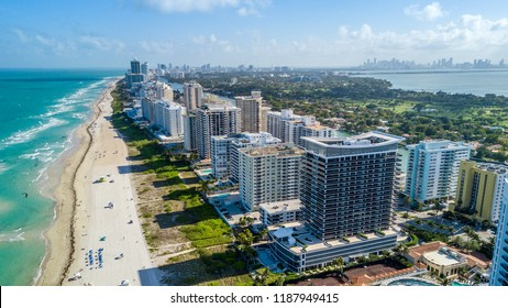 South View of the Miami Beach Coastline
