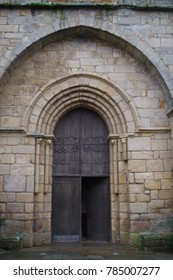 South West of France, Picture dated 2nd of January 2018. Beautiful church door opened on one side.