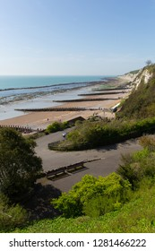 South west part of Eastbourne beach East Sussex England UK with coast view