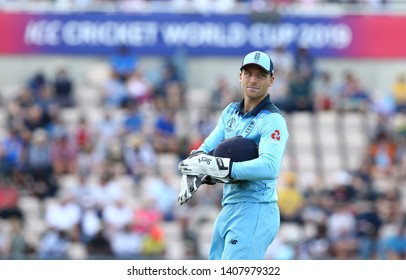 SOUTHAMPTON, ENGLAND. 25 MAY 2019: Jos Buttler of England  during the England v Australia, ICC Cricket World Cup warm up match,
