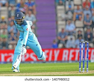 SOUTHAMPTON, ENGLAND. 25 MAY 2019: Jofra Archer of England runs a single during the England v Australia, ICC Cricket World Cup warm up match,