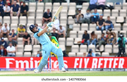 SOUTHAMPTON, ENGLAND. 25 MAY 2019: Jos Buttler of England hits out during the England v Australia, ICC Cricket World Cup warm up match,