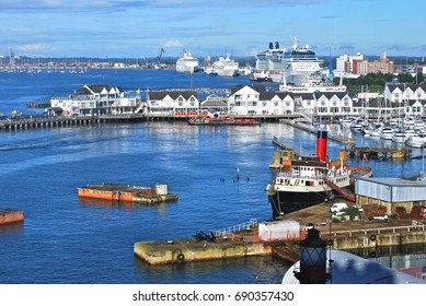 SOUTHAMPTON, ENGLAND - OCTOBER 12: The Port of Southampton is a passenger and cargo port located in the central part of the south coast of England, in Southampton, England, October 12, 2013.