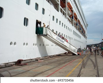 SOUTHAMPTON, ENGLAND - OCTOBER 4: Cruising has become an increasingly popular holiday for millions of people worldwide, in Southampton, England, October 4, 2010