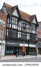 Southampton, Hampshire, UK 07 10 2020 Tudor Buildings on Above Bar Street in Southampton, Hampshire in the UK
