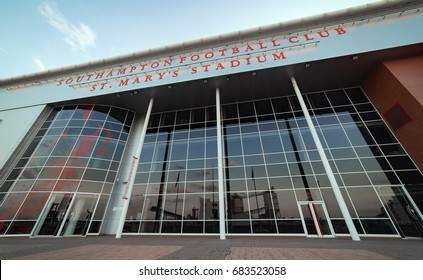 Southampton, UK. 24th July 2017. The exterior and main entrance of St Mary's Stadium. Home of Southampton football club.
