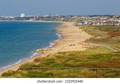 Southbourne beach on a sunny day, Bournemouth, Dorset, England, UK.