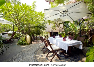 Southeast Asian style garden restaurant outdoor