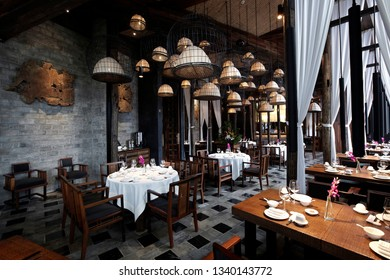 Southeast Asian style restaurant interiors