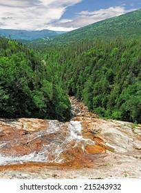 Southeast Brook Falls in Gros Morne National Park, Newfoundland and Labrador, Canada
