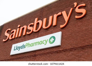 Southend, England - 29 April 2018: Lloyds pharmacy inside sainsburys. One hundred and ninety Lloyds Pharmacy stores across England are set to close, placing hundreds of jobs at risk.