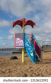 Southend-on-Sea, Essex / England - 020702019: Play equipment on Jubilee beach