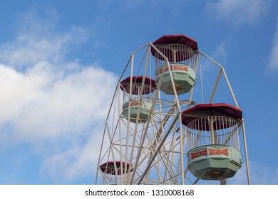 Southend-on-Sea, Essex / England - 02/07/2019: Big wheel at Adventure Island,