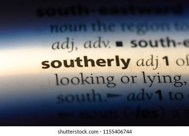 southerly word in a dictionary. southerly concept.