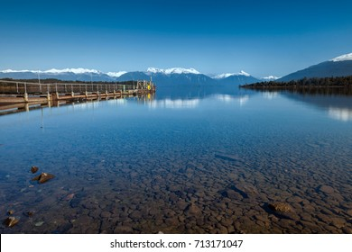 Southern Alps Mountains Reflection at Te Anau Downs