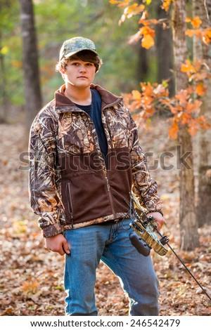 Teen in the woods