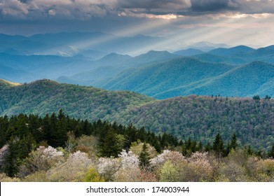 Southern Appalachian Mountain Scenic from a Blue Ridge Parkway Overlook