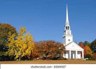 A southern Baptist Church in rural surroundings.
