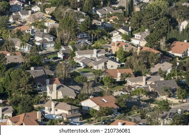 Southern California suburban housing track in Ventura County's Simi Valley.