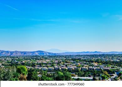 Southern California urban growth in old farming area