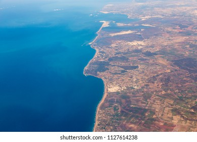 southern coast of spain from above