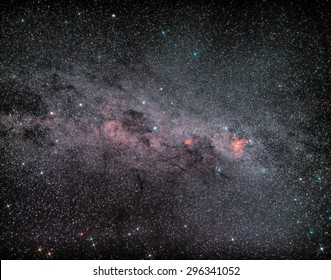 Southern Cross, Pointers, Coalsack and Carina Nebula Region
