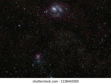 Southern deep sky with the Carina nebula astro photography with a telescope in the Australian outback