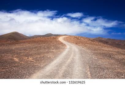 Southern Fuerteventura, Jandia, path towards Pico de Zarza, highest point of the island