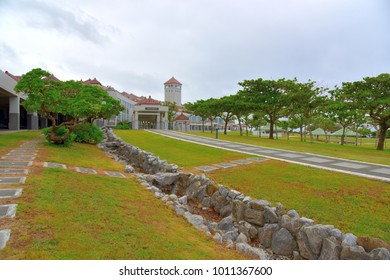 The southern part of Okinawa Island which was the site of a hard-fought battle of World War II that became the park now, Okinawa, Japan : September 26, 2015