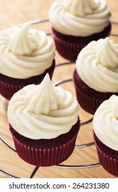 Southern Red Velvet Cupcakes with Cream Cheese Frosting