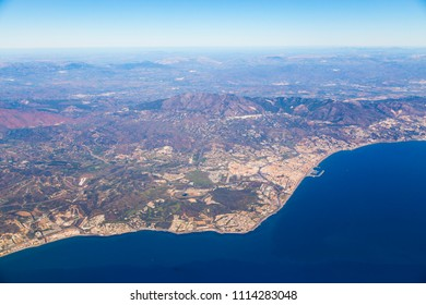Southern Spanish coastline from above