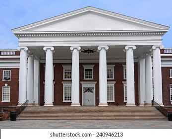 Southern style college building (University of Virginia Medical School)