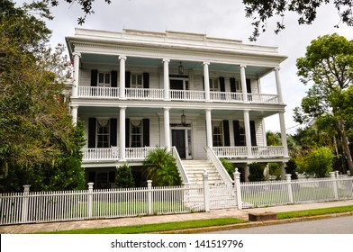 a southern style mansion of white wood