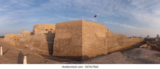Southern tower and adjacent walls of  ancient Bahrain Fort
