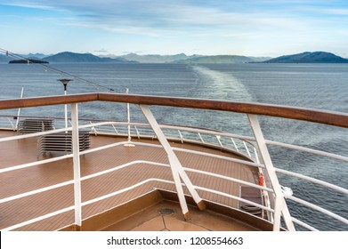 Southern view of Dixon Entrance from cruise ship, Inside Passage, BC, Canada.