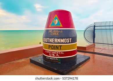 The Southernmost Point Buoy of Key West, Florida