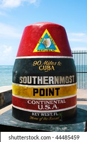 Southernmost point in continental USA in key west, Florida