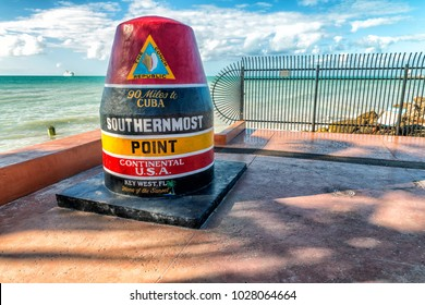 Southernmost Point in Florida. It is the famous landmark of the southernmost point of the United States.