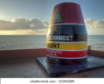 The southernmost point of USA on Key West, Florida.