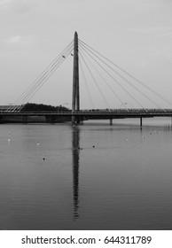 southport millennium bridge in the evening