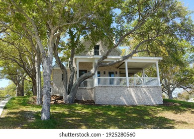 Southport, NC - Feb 2021: A Neighborhood Home just Outside of Downtown in North Carolina