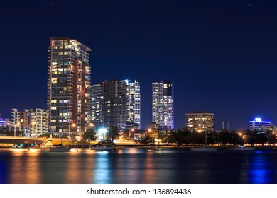 southport at night (Southport, QLD, Australia)